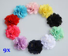 Wholesale 9x Mini DIY Flowers Embellishments Craft Applique Girls Accessories