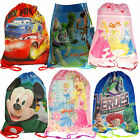 Boys Girls Childrens Disney Cars Mickey Minnie Mouse Princess Toy Story Gym Bags