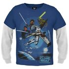 Star Wars - Clone Wars Jedi Juvy 2fer Long Sleeve - Blue