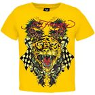 Ed Hardy - Tiger and Dragon Roar Yellow Youth T-Shirt - Yellow