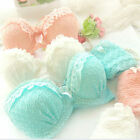 Maiden Sweet Lace Gather Bra Sets Sexy Women Ruffle Push-Up Lingerie Underwear
