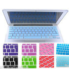 "UK EU Version Silicone Keyboard Cover for Macbook Mac Pro Air 11""13""15""17""Colors"