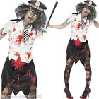 Ladies Zombie Policewoman Law Dead Cop Corpse WPC Halloween Fancy Dress Costume