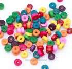 Wholesale Rondelle Wood Spacer Beads Jewelry Finding Loose Wood Beads 6mm NEW