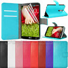 Flip Leather Stand Wallet Case Cover Card Holder For LG G2 D800 D801 D802 LS980