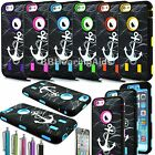 """For iPhone 6 4.7"""" Triple Layer Plus Rugged Rubber Hybrid Hard Case Cover Anchor"""
