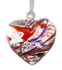 Handmade Friendship Recycled Glass Birthstone Birthday Heart