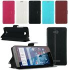 Deluxe Stand Leather Slim PU Leather Flip Case Cover For HTC Desire 616 D616W