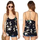 Sleeveless Backless Floral Chiffon Shirt Casual Blouse Vest Tank Top Cami EN24H