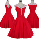 Vintage Dancing Party Prom Swing Jive Rockabilly Skirt 50s 60s Dresses Polka Dot