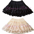 Frilly Skirt Womens Rockabilly Swing Retro Burlesque Skater 50s Plus Size 6-24