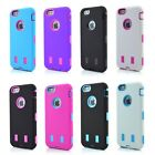 3-Piece High Impact Rugged Hard & Soft Combo Case Cover For iPhone 6  4.7 inch