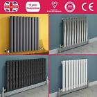 ANTHRACITE BLACK GLOSS CHROME WHITE HORIZONTAL OVAL TUBE DESIGNER RADIATOR