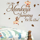Monkey Bedroom Children Nursery Wall Quotes Stickers Wall Decals Wall Arts
