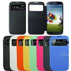 HOTSlim S-VIEW Flip Smart Case Battery Cover For Samsung GALAXY SIV S4 I9500