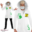 Halloween Adult Mens Light Up Radio Active Labcoat Mad Scientist