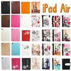 mini order 1pcs Smart PU Leather Case Cover Apple for iPad 5 Air + Film + Stylus