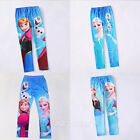 Fashion Girl's Leggings Disney Frozen Anna and Elsa Tights Trousers Pants 3-9Y
