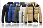 New winter Men's down cotton padded collar Loose short coat jacket 5 Color 5Size