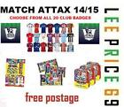 MATCH ATTAX 14/15 CHOOSE CLUB BADGE OR TACTIC CARDS