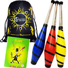 Beach Juggling Club  Set - 3  Clubs + Mr Babache Club Juggling Book + Travel Bag