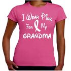 I Wear Pink For My GRANDMA Breast Cancer Awareness T Shirt Junior Fit
