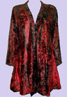 NEW Eaonplus RED Midnight TieDye Swing Velvet Jacket Size UK 18/20 to 34/36