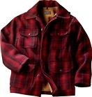 NEW WOOLRICH 503 CLASSIC FIELD HUNT COAT MENS WOOL RED BLACK FAST SHIP AUTHENTIC