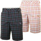 Puma Golf AW13 Mens Plaid Tech 1 Shorts Flat Front Check