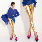 New Girl Women's Shiny Summer Tights Pants trousers Slim PU Leather Leggings K89