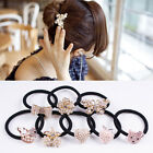 New Stock Pearl Crystal Rhinestone Flower Ponytail Holder Hair Rope Band HOT
