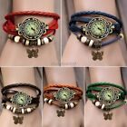 Stylish Quartz Bracelet Leather Butterfly Wrap Around Strap Wrist Watch Hot ItS7