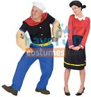 COUPLES POPEYE AND OLIVE OYL ADULT COSTUME Funny Pair Duo Theme Party Halloween