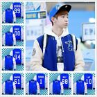 KPOP EXO Member Name Baseball Uniform Korean Jacket Hoodie XOXO Sweatshirt Coat