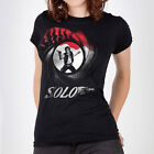 """James Bond / Han Solo """"Licensed to Shoot First"""" Women's Star Wars parody t-shirt $22.0 USD"""