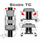 """6-9"""" Dual Rally Racing Stripe with Pin Stripe Cast Vinyl Decal Fits Scion TC on eBay"""