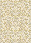 Yellow Modern Abstract Leaves Area Rug Scrolls Contemporary Multi-Color Carpet