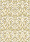 Metro Yellow Contemporary Bold Patterned Symmetrical Damask 1093 Yellow Area Rug