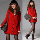 Leisure Korean Womens Knitting Sweater Coat Outerwear Solid Long Sleeve Top 4869