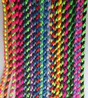 """25"""" inch Chunky Braided Paracord Dog Lead Show Obedience Rally Training Bright"""