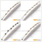6-7mm Freshwater Pearl Beads White Gold Plated Light Base Jewelry Bracelet