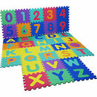 Interlocking EVA Soft Rubber Letters & Numbers Alphabet Mats Play Area Kids Baby