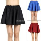 Hot Women High Waist Sexy Short Plain Flared Pleated Skater Mini Skirts N98B