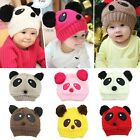 New Winter Warm Cute Panda Baby Toddler Kid Hat Wool Knitted Crochet Beanie Cap