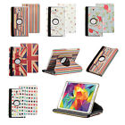 "Rotating Leather 360 Stand Case Cover for Samsung Galaxy Tab S 8.4"" & 10.5"" Inch"