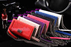 Luxury Strap Chain Wallet Flip Leather ID Card Flower Case Cover For Phone JM9
