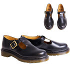 WOMENS LADIES DR MARTENS CASUAL POLLY BLACK LEATHER T BAR BUCKLE SHOES SIZE