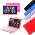7 Android 4.4 KitKat Quad Core A33 Tablet PC 16GB WIFI 3G + Keyboard For Kids
