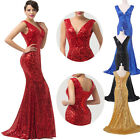 XMAS GIFT Sequins Sexy Slim Long Evening Ball Party Prom Bridesmaid Dresses 6-20