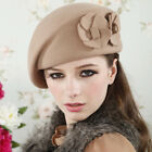 H60 Fashion Ladies Wool Felt Hat With Flowers Hats
